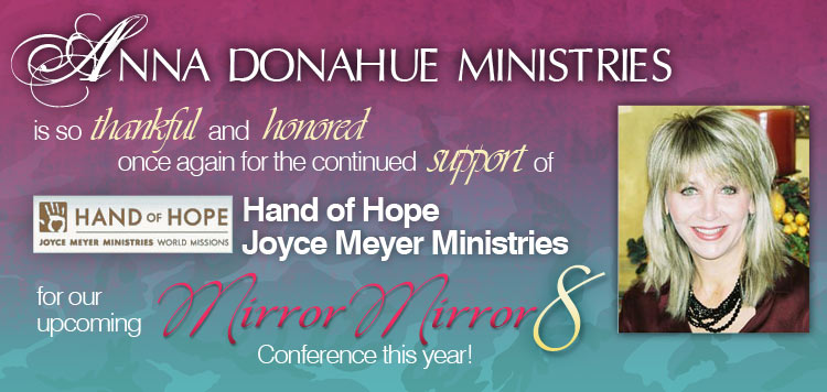 Thank you to Hands of Hope Joyce Meyer Ministries